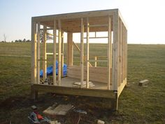 This is what started it all!The coop is 8x8 and i used treated 6x6 posts concreted in the...