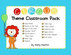 This is a classroom decoration packet that is in a circus theme!