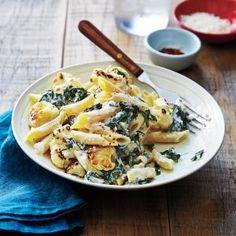 Vegetarian Pasta Dishes  | Cheesy Pasta with Roasted Cauliflower  | MyRecipes.com