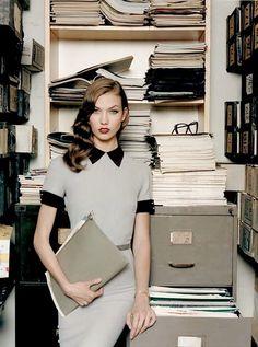 Karlie Kloss in Victoria Beckham in Self Service