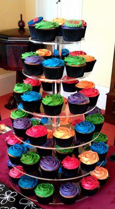 Bright cupcake tower | Flickr - Photo Sharing!