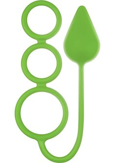 Buy Renegade 3 Ring Circus Silicone Anal Plug With Cockrings Neon Green 14 Inch online cheap. SALE! $18.49
