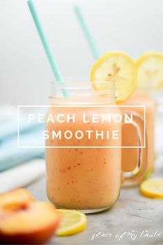 Peaches are in season and nothing would be more refreshing than a fantastic Peach Lemon Smoothie on a hot summer day!   Hello Everyone!It's Aniko from Place of my Taste and I am back with a phenomenal summer drink for ya. Smoothies are my favorite drinks in the summer as they are cold, refreshing and … Healthy Drinks, Limoncello, Foie Gras, Cantaloupe, Fries