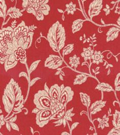Home Decor Upholstery Fabrics Waverly Cottage Vine Cherry Fabric Upholstery Fabric At Joann