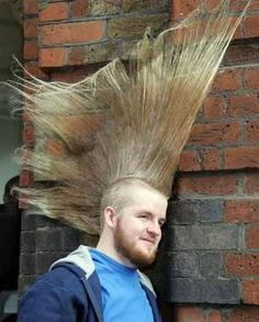 Pictures gallery of crazy hair cut Crazy Real Haircuts Game Dress Up Games Crazy Hair Styles -In Sty. Funny Baby Images, Funny Pictures For Kids, Crazy Pictures, American Funny Videos, Funny Dog Videos, Humor Videos, Bad Hair Day, Big Hair, Justin Bieber Jokes