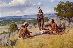 Artwork by Jim Norton, Prayers to the Buffalo, Made of oil on  canvas KP