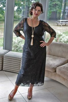 The Perfect Night - Black Lace and Sequin Dress