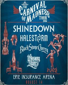 Erie PA! It's your turn for the Carnival of Madness with #Shinedown! Who's going to the show?!   via Instagram http://ift.tt/2aM5Mnm  Shinedown Zach Myers
