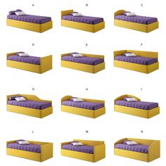 Sid trundle bed for kids with wall panel - DIOTTI.COM