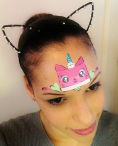 The Lego Movie Unikitty Face Painting