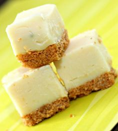 Key Lime Pie Fudge - I like my citrus desserts to be really tart! I also added a pinch of salt to the fudge, which I think is necessary to cut the sweetness from all the white chocolate.
