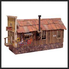 Building paper model house