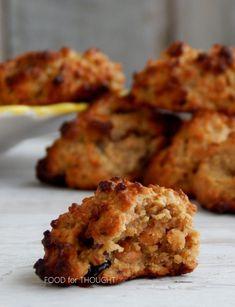 Sugarless Cookies, Oat Cookies, Tahini, Cauliflower, Muffin, Sweets, Vegetables, Breakfast, Food