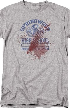 Bloody Springwood High Nightmare On Elm Street Geeks: Enjoy the comfort of home or travel the great outdoors in this men's style shirt that has been designed and illustrated with great art.