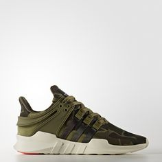 With roots in the original '90s Equipment running shoes, the new EQT Support ADV series re-imagines the runner-inspired design for today's urban trendsetter.  These trainers have a stretchy mesh upper accented by tonal camouflage. Synthetic suede overlays vary the texture, while a soft lining surrounds your feet with breathable mesh. Tricolour 3-Stripes on the upper turn tonal as they extend into the midsole, for true heritage detailing and a street-ready look.