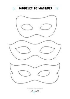6 modèles de masques pour le carnaval