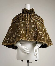 Opera cape Beer (French) Designer: Gustave Beer (French) Date: ca. 1896 Culture: French Medium: silk, wool Dimensions: Length at CB: 19 in. (48.3 cm) Credit Line: Gift of Everett S. Lee, 1980 Accession Number: 1980.588.1