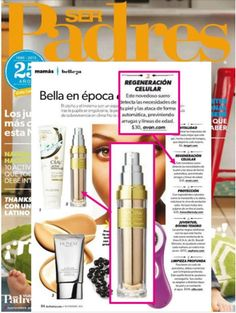 ANEW Power Serum was featured in Ser Padres as a serum that detects your skin's needs and prevents wrinkles and fine lines. #ANEWyou