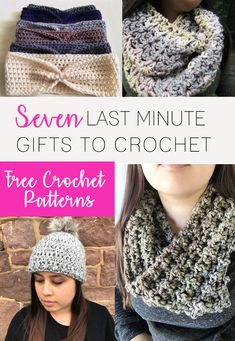Last Minute Gifts to Crochet | Quick and Easy Crochet Patterns | Free Crochet Patterns | Easy Scarf Pattern | Easy Crochet Beanie Hat Pattern | Easy Headband Earwarmer Crochet Pattern | Easy Cowl Pattern | Maria's Blue Crayon