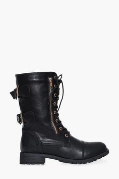 0da58b3e4f92e Walter Combat Boot Trendy Womens Shoes
