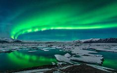 6 Best Places to see the Northern Lights in winter 2014-2015  Aurora Borealis, Jokulsarlon, Iceland
