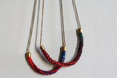 kumihimo necklace very pretty minimalist look. Perfect showcase of kumihimo.