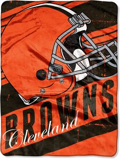 Cleveland Browns, Stay Warm, North West, Cheer, Nfl, Plush, Graphics, Blanket, Game