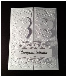 Wedding/anniversary handmade card.
