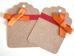 Kraft Extra Large Gift Tags with Red and by SW8PaperAndStuff, $3.25