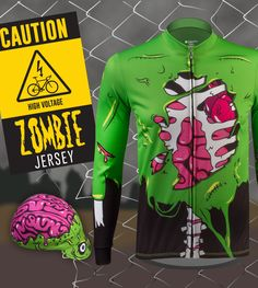663cbfa67 Zombie Cycling Jersey and Rush Cap - Make It A Kit! Bike