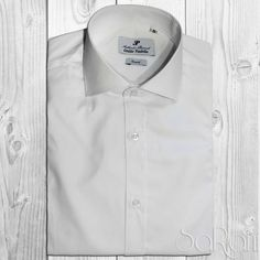 Camicia Uomo Casual Basic Cotone Tinta Unita Bianca Manica Lunga Slim Fit SARANI