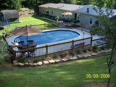 large wood pool deck for oval pool in mchenry county builtrock