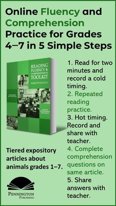Help your students practice fluency and comprehension at home. Easy administration in 5 simple steps. Tiered animal articles to practice expository  reading. Highly rated! 5 STARS.