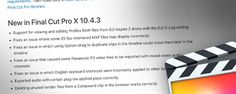 Apple gave us a 7th birthday present with a minor Final Cut Pro X update. 10.4.3 is mainly a bug...