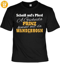Wander T-Shirt A gscheida Prinz kimmt mit da Wanderhosn Kletter Bergsteiger Shirt 4 Heroes Geburtstag Geschenk geil bedruckt (*Partner-Link)