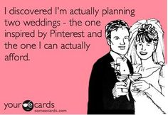 5 Tips:  Pinterest Weddings on reality budgets. This is a must read, share with your friends!