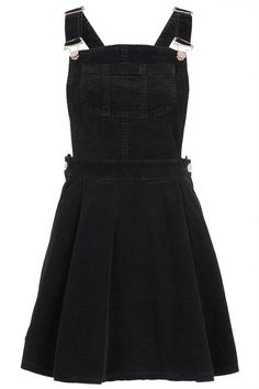 black corduroy overall dress outfit Cute Casual Outfits, Pretty Outfits, Mode Monochrome, Dress Skirt, Dress Up, Pleated Skirt, Dress Outfits, Fashion Dresses, Corduroy Overall Dress