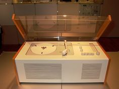 First clear-plastic-covered record player
