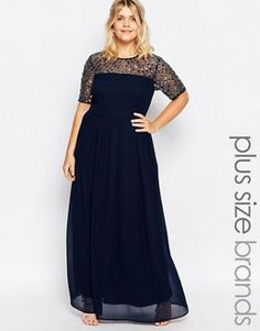Lovedrobe Chiffon Embellished Maxi Dress