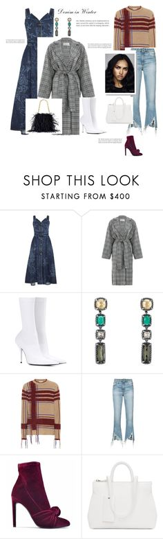 """LOD: Denim in Winter"" by beautymanifesting ❤ liked on Polyvore featuring Carven, Zimmermann, Balenciaga, David Yurman, Tory Burch, R13, Giuseppe Zanotti and Marsèll"