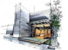 Interesting Find A Career In Architecture Ideas. Admirable Find A Career In Architecture Ideas. Croquis Architecture, Architecture Design, Architecture Graphics, Landscape Architecture, Tropical Architecture, Interior Rendering, Interior Sketch, Rendering Techniques, Drawing Techniques