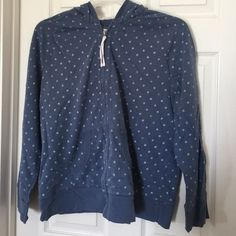 Zip up hoodie~BUNDLE ME~ Merona blue and white zip up hoodie. Gently used. Merona Other