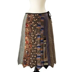 Like the color palette on this/ A colorful skirt made from vintage neck ties!