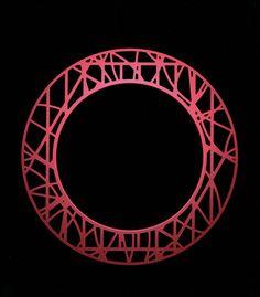 Torus_in_Matrix - Red - 2006 - hard annodised aluminium - by David Watkins