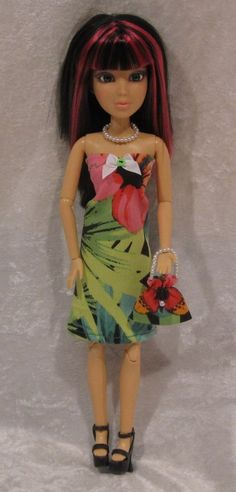 LIV Doll Clothes #52 Handmade Dress, Purse & Beaded Necklace Set for your doll #HandmadebyESCHdesigns