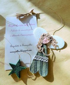 sanagrillia Angel Crafts, Book Markers, Christmas Crafts, Christmas Ornaments, Preschool Crafts, Felt Crafts, Book Worms, Decoration, Projects To Try
