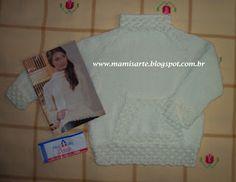 Crochet et Tricot da Mamis: Blusa Kangoo Infantil em Tricot - Receita