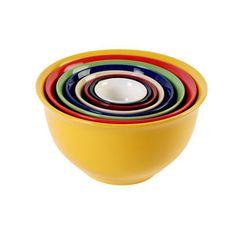 Gibson Sensations II 8-Piece Nesting Bowl Set, Rainbow