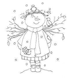 Free Dearie Dolls Digi Stamps: Repost Request.....Snow Angel with Twig Wings