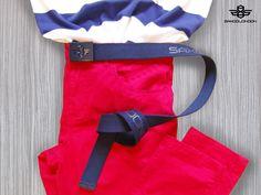 details #saxoolondon #menswear #mensfashion #redlove #belt #striped #jeans